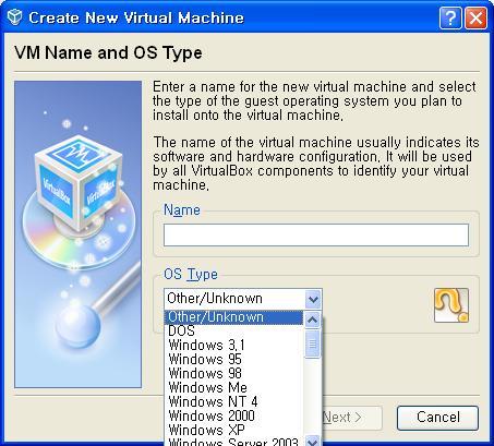 TIPE OS di virtualbox