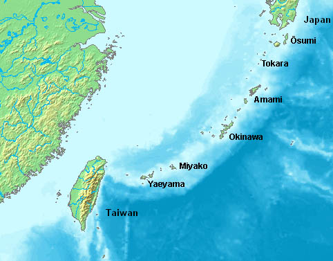 Locatio of Ryukyu Islands
